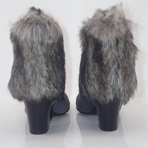 IMAN Shoes - New IMAN Ankle Boots Gray sz 9M with Fur & Sequins